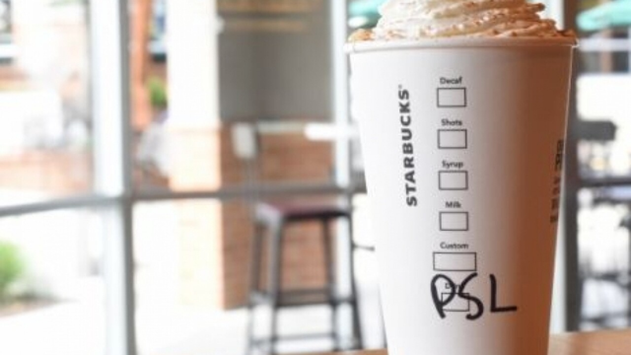 Pumpkin Spice Lattes returning to Starbucks next week