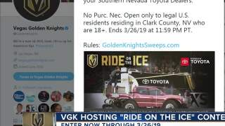 VGK's Ride on the Ice contest