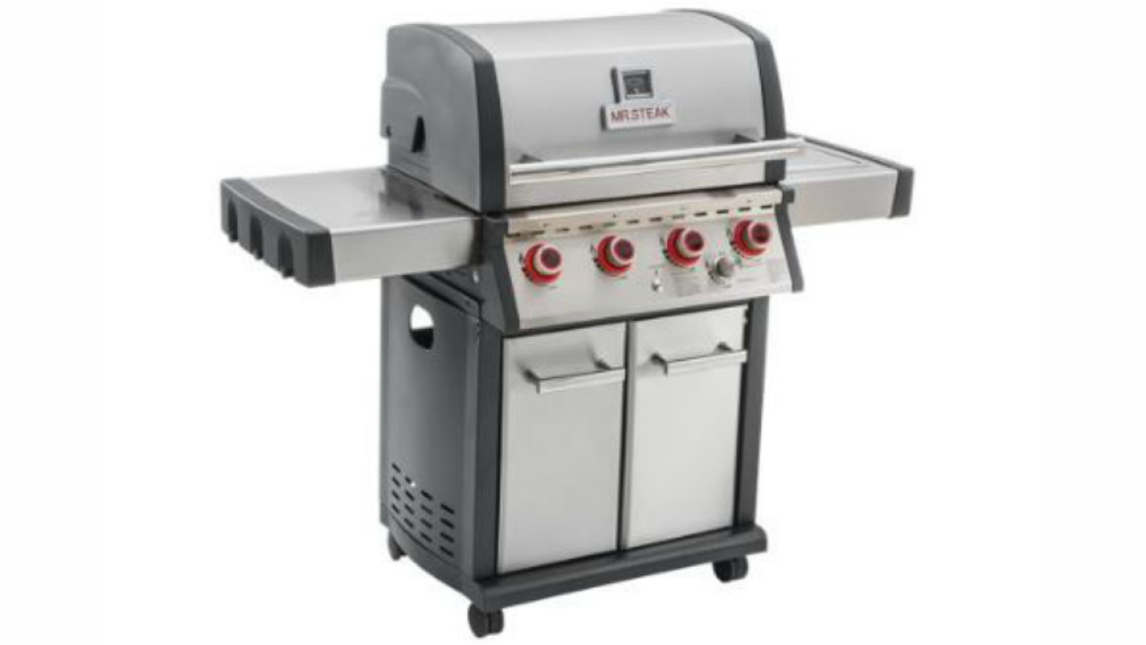 MR. STEAK four burner gas patio grill