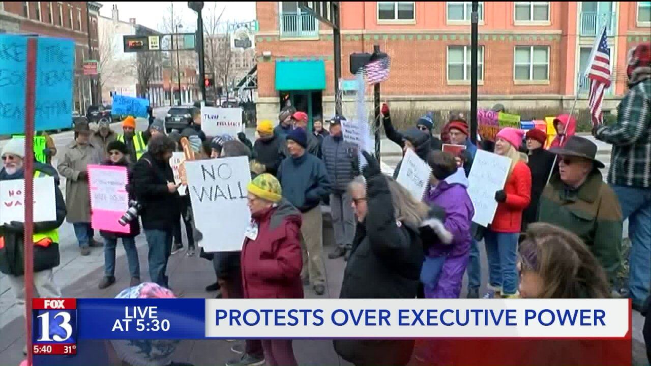 Some Utahns say 'Trump is the crisis' while protesting the President's emergencydeclaration