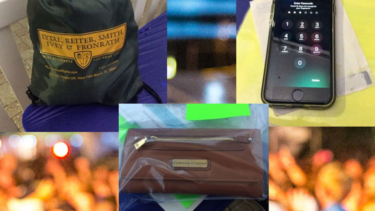 SunFest collects dozens of valuables left behind at 4-day music festival