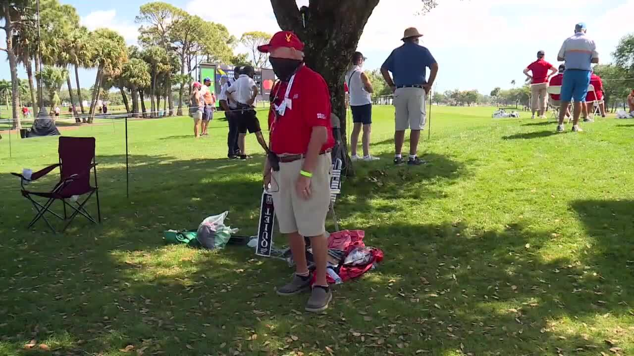 Tom Gibbs, collects golf balls for children