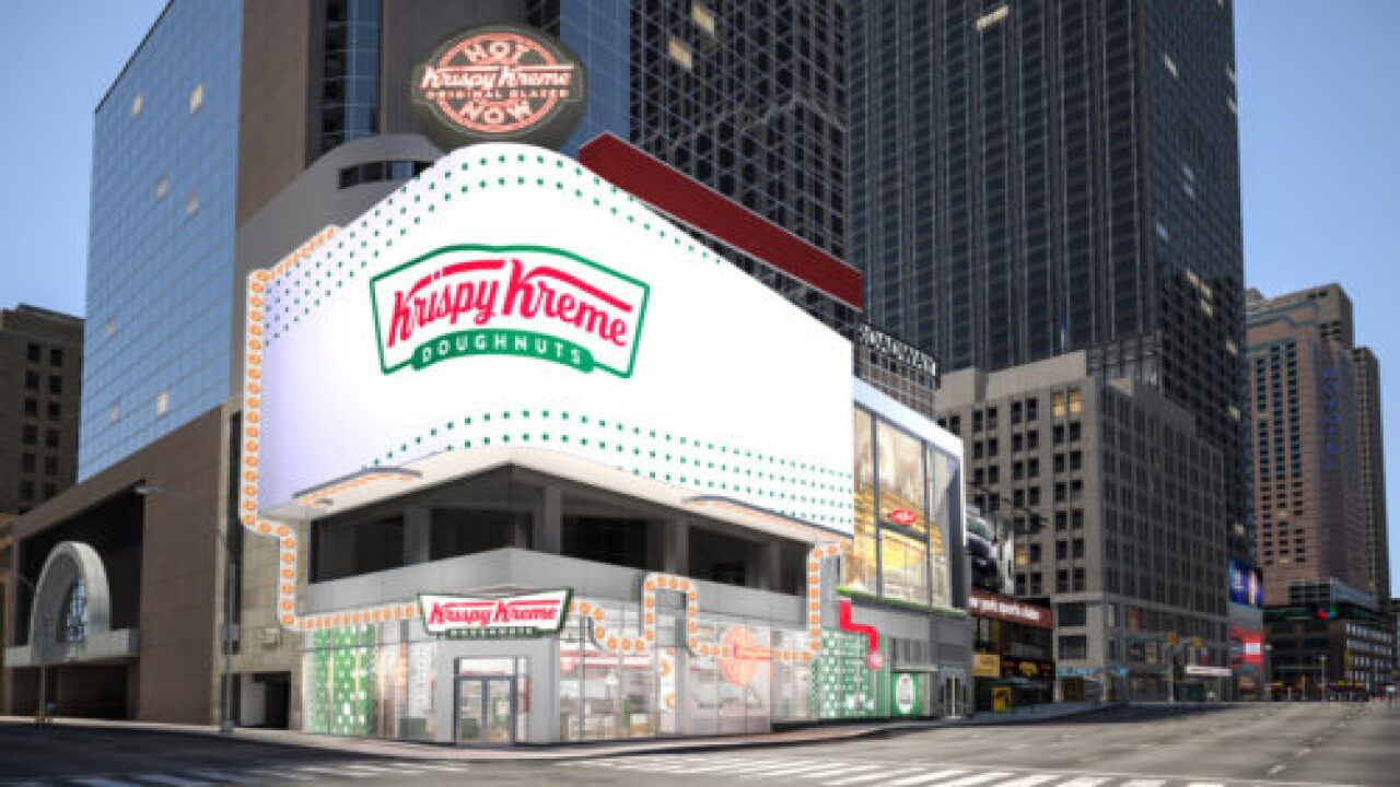 Krispy Kreme Is Opening A Massive, 24-Hour Doughnut Shop In Times Square
