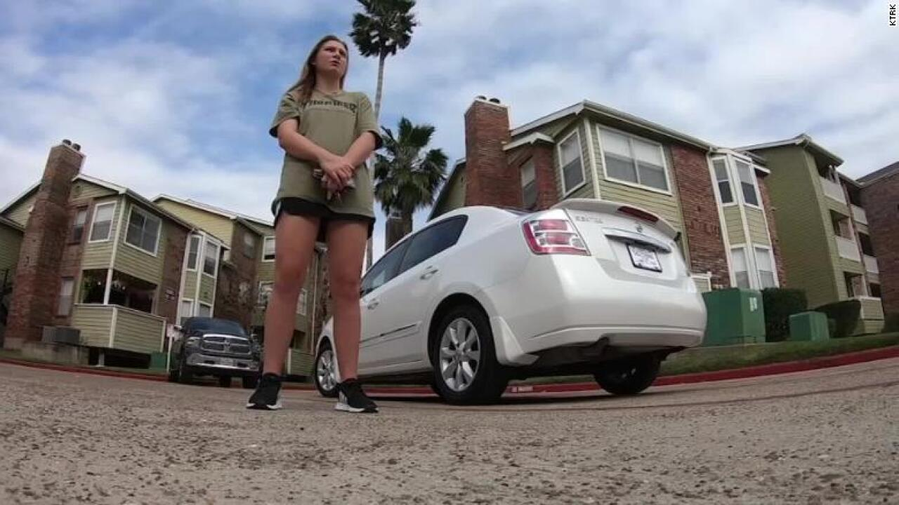 Texas couple surprised waitress who walked 14 miles to and from Denny's with new car