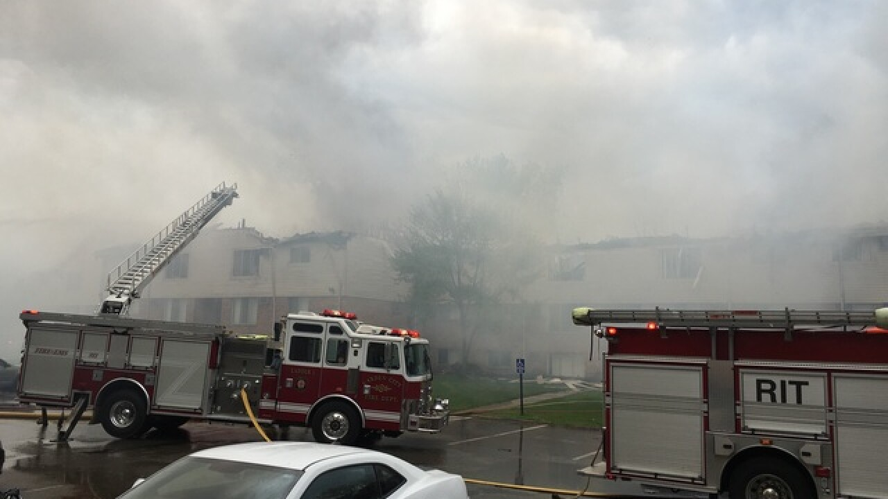 Large apartment complex fire in Inkster
