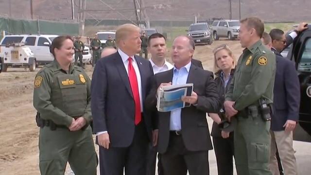 PHOTOS: President Trump tours border wall prototypes in Otay Mesa