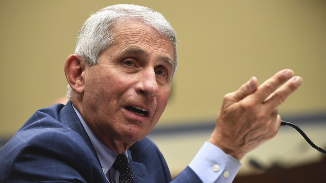 Fauci says some likely to receive COVID-19 vaccine by end of 2020