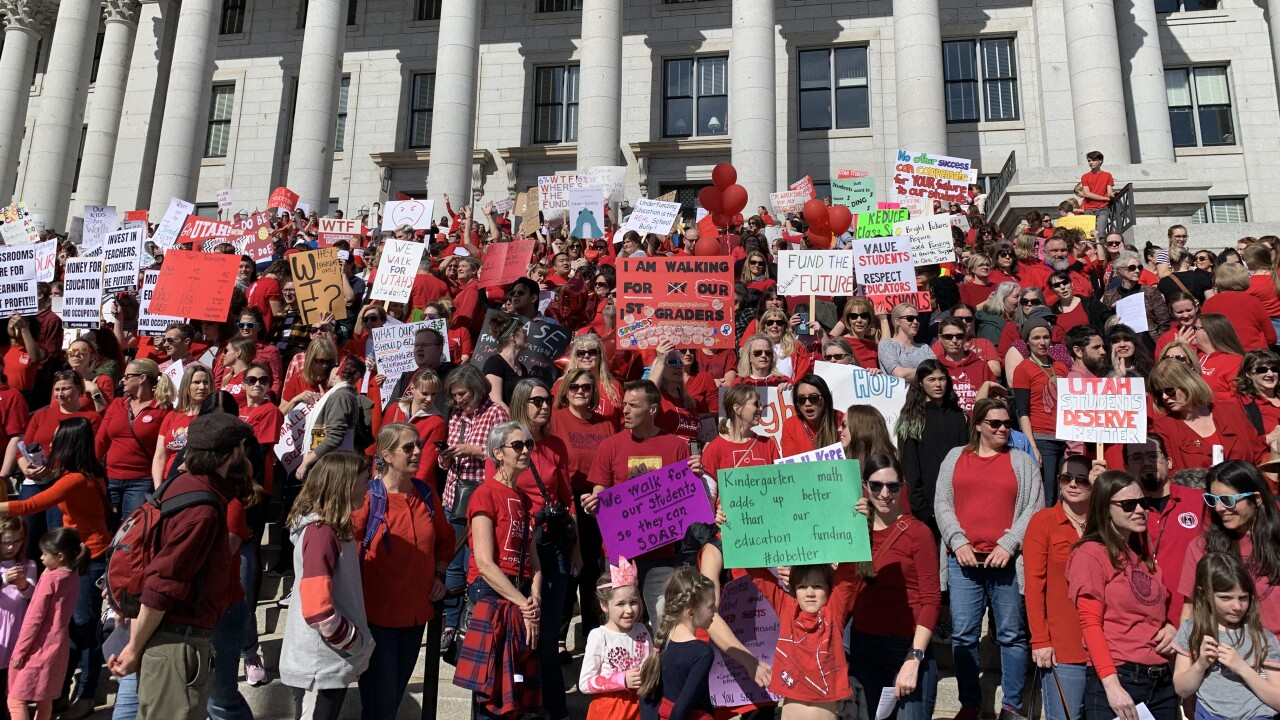 SLC teacher's union walkout