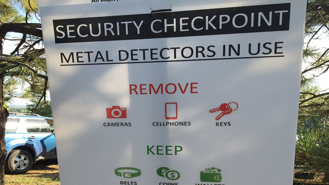 New metal detectors in place at Fiddler's Green