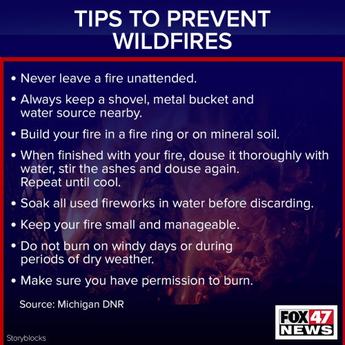 Tips to prevent wildfires