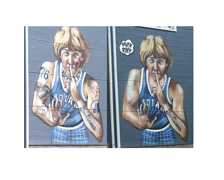 larry bird tattoo mural