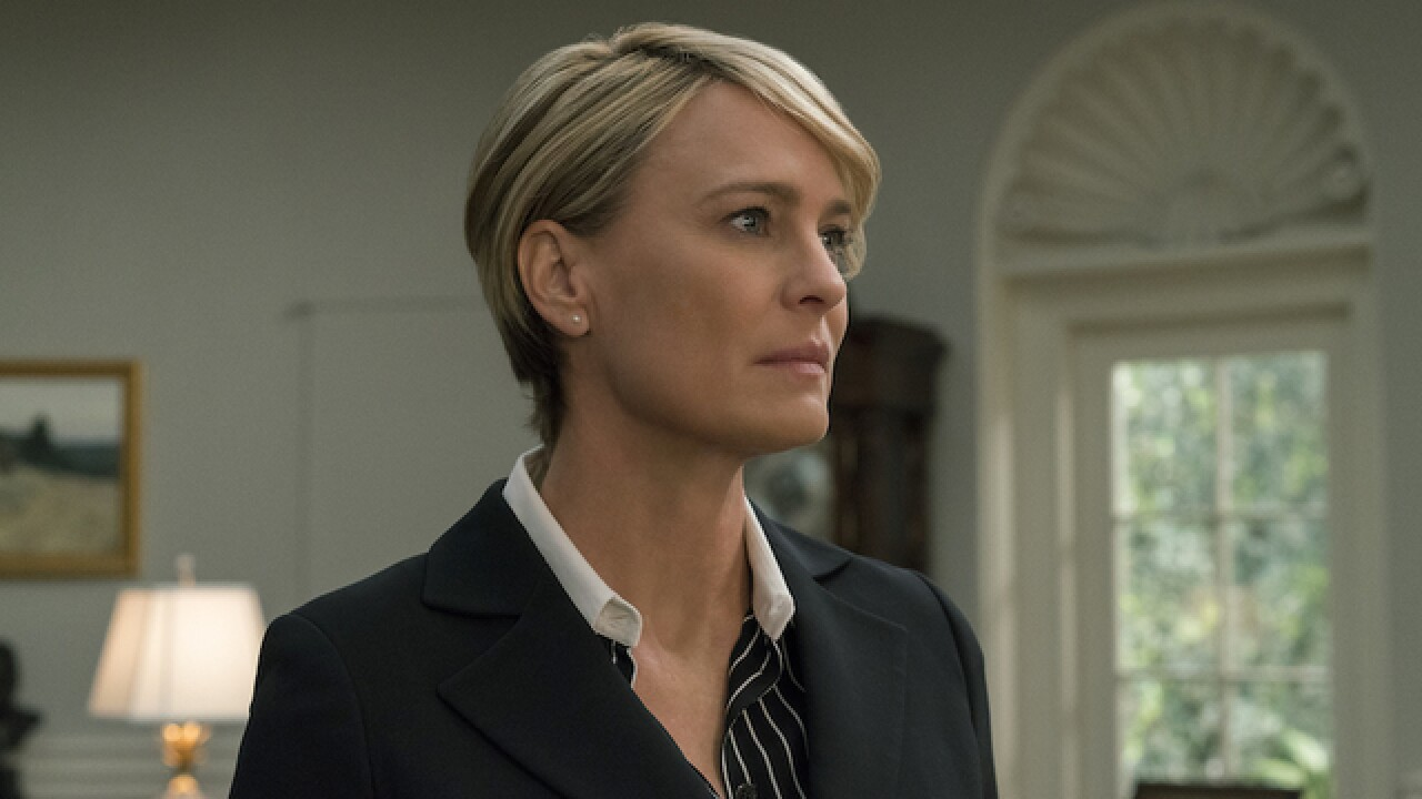 'House of Cards' star Robin Wright says she still doesn't get paid as much as Kevin Spacey