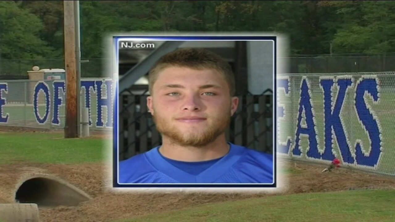 NJ high school quarterback dies after hit
