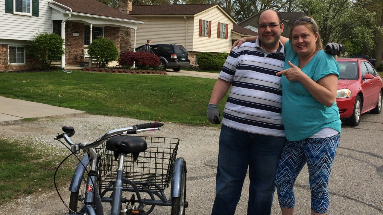 A Michigan man with special needs had his tricycle stolen. Strangers banded together to help