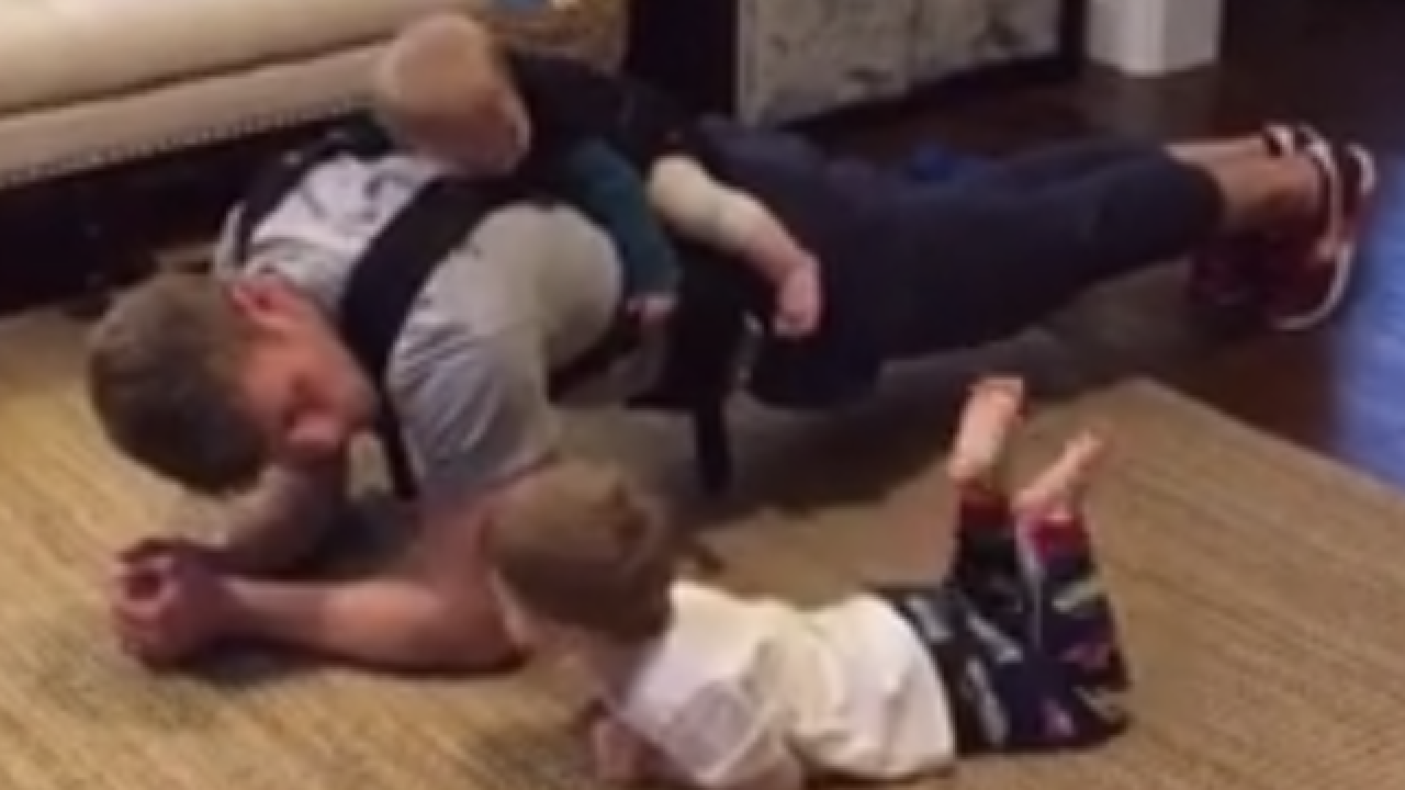 Cincy dad posts cutest workout video ever