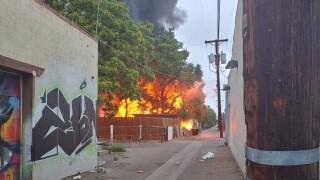 Crews get control of structure fire in Pueblo