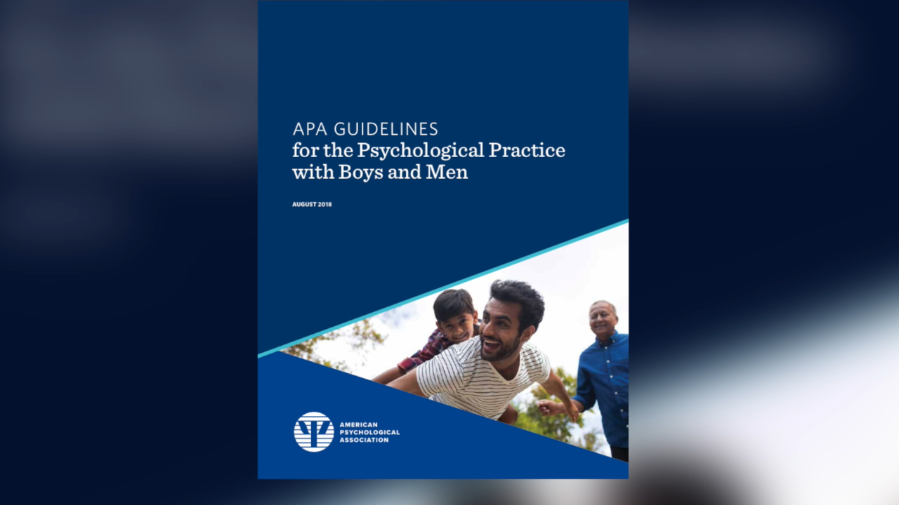 Group warns 'traditional masculine ideology' is negatively impacting boys, men