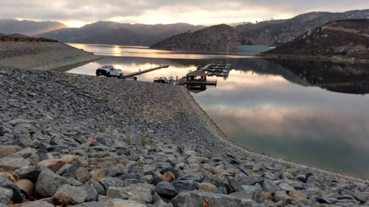 Divers search for girl in San Vicente Reservoir