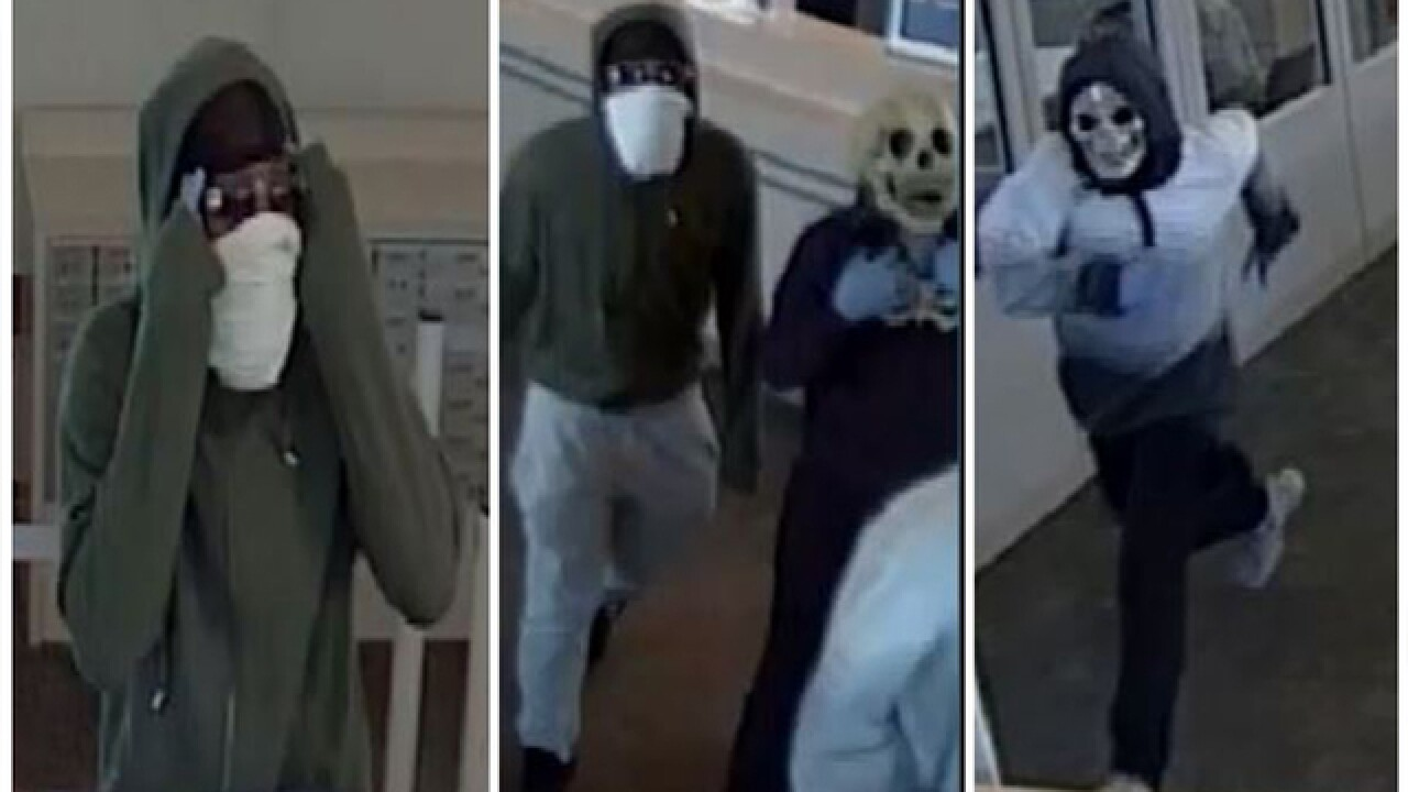 $10,000 Reward: Police searching for 3 men who robbed Akron bank wearing Halloween masks