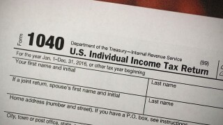 IRS shrinks the 1040 tax form