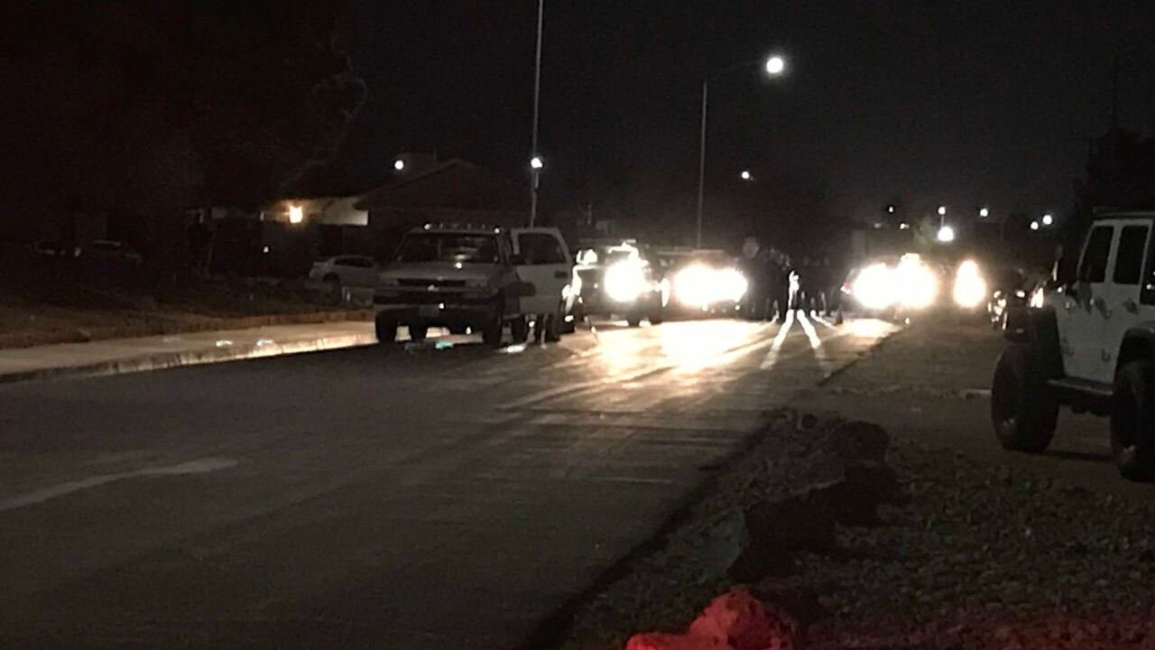 This is the scene of a police-officer involved shooting in Henderson Thursday evening near Warm Springs and Lake Mead Parkway.