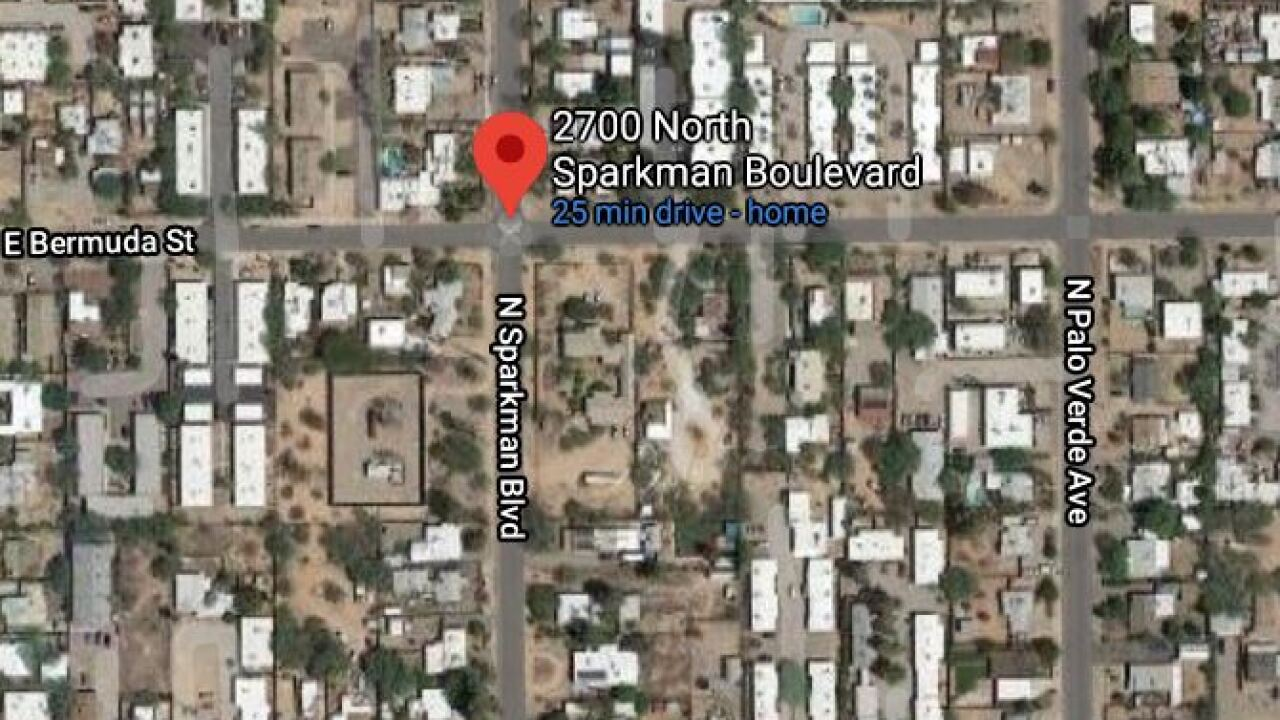 Tucson Fire crews put out a fire at a vacant duplex Thursday night. Photo via Google Maps.