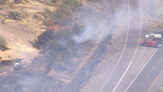 Brush fire I-17 near New River 7-3