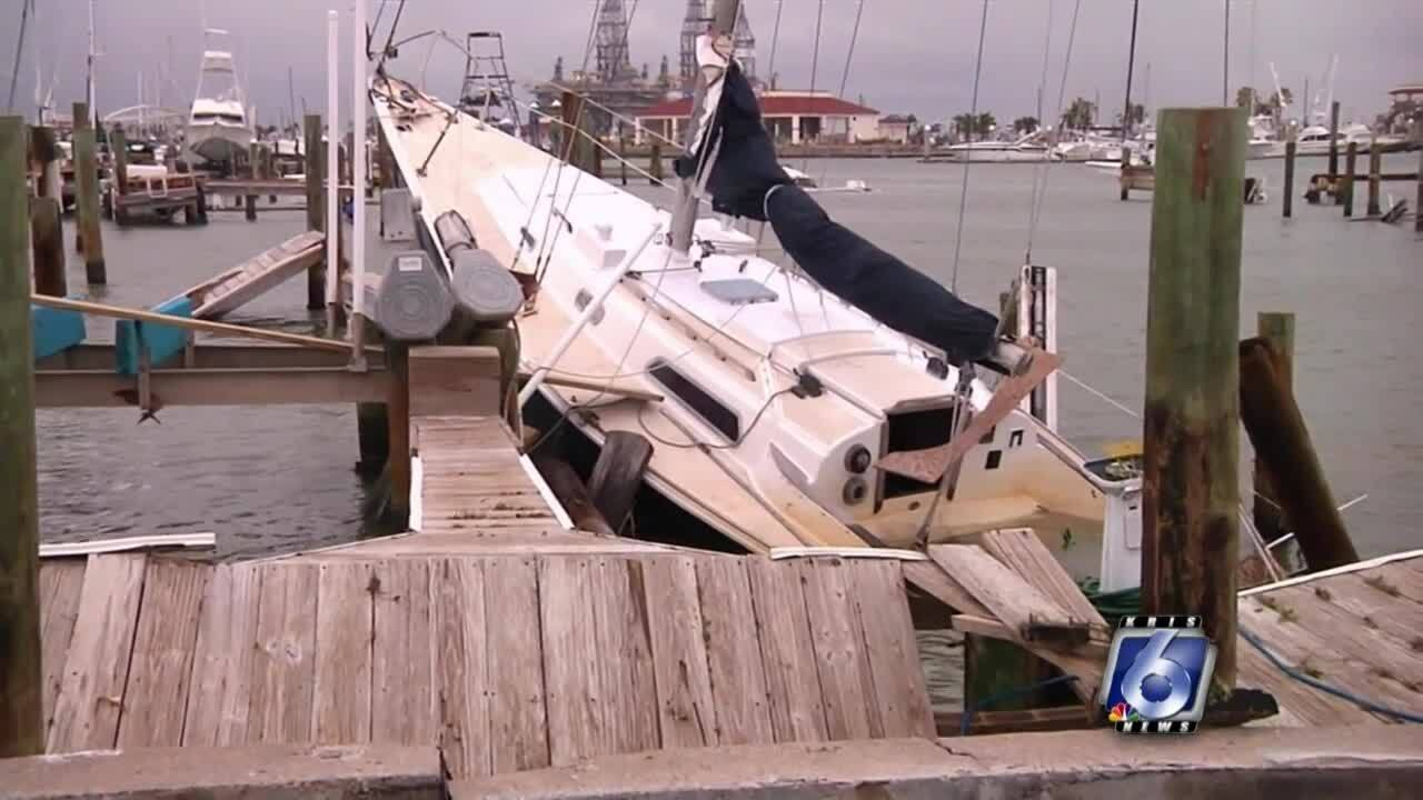 Boat damage from a recent hurricane