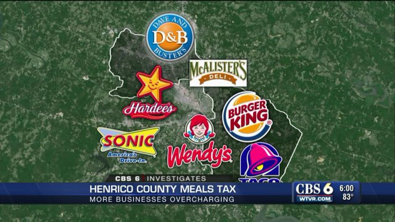 Henrico buyers, check your receipts for overtax