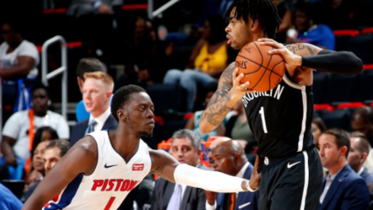 D'Angelo Russell, Nets edge Pistons in OT
