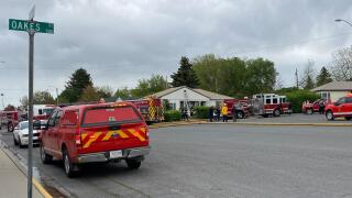 Structure fire reported on Oakes Street