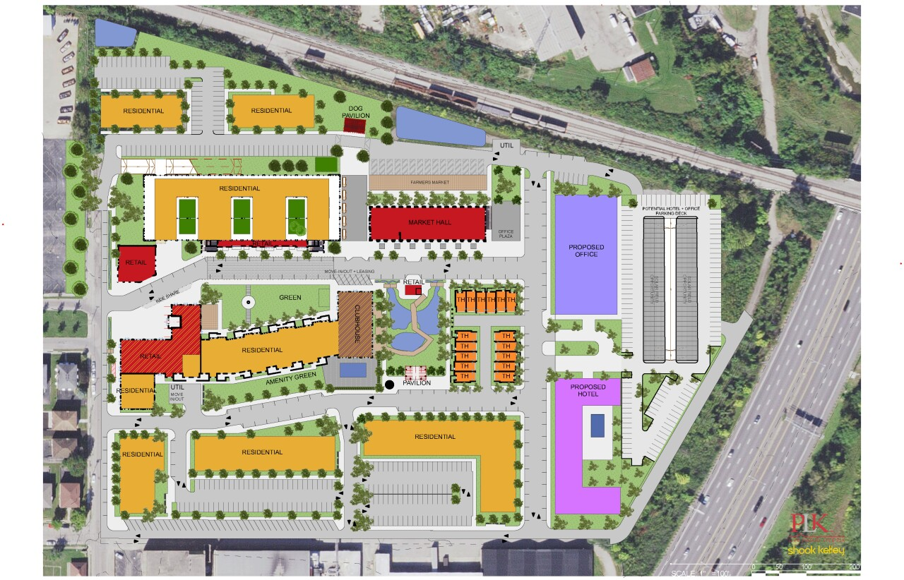 Site plan for former US Playing Card Company site