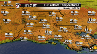 More sunshine Monday followed by scattered showers the rest of the week