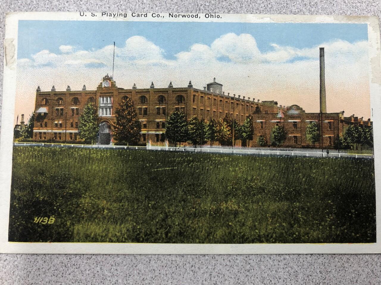 Old US Playing Card Company postcard