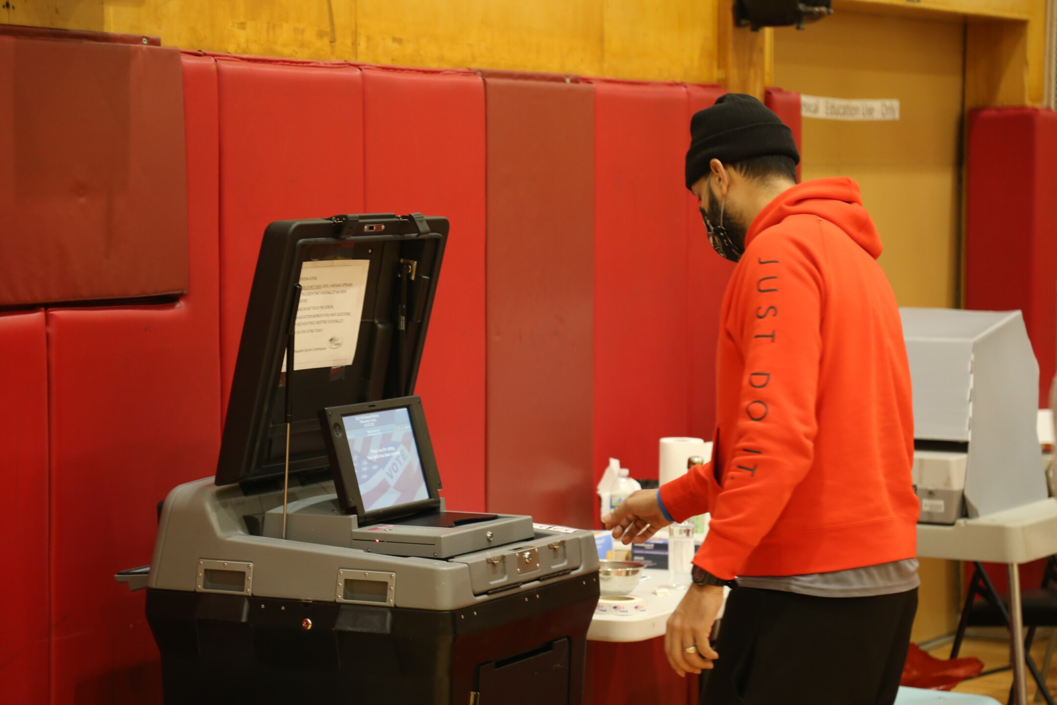 Submitting Votes at Milwaukee Marshall HS.JPG