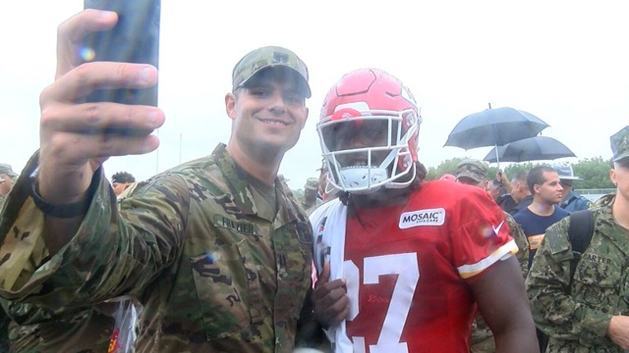 Chiefs hosts military for last day of camp