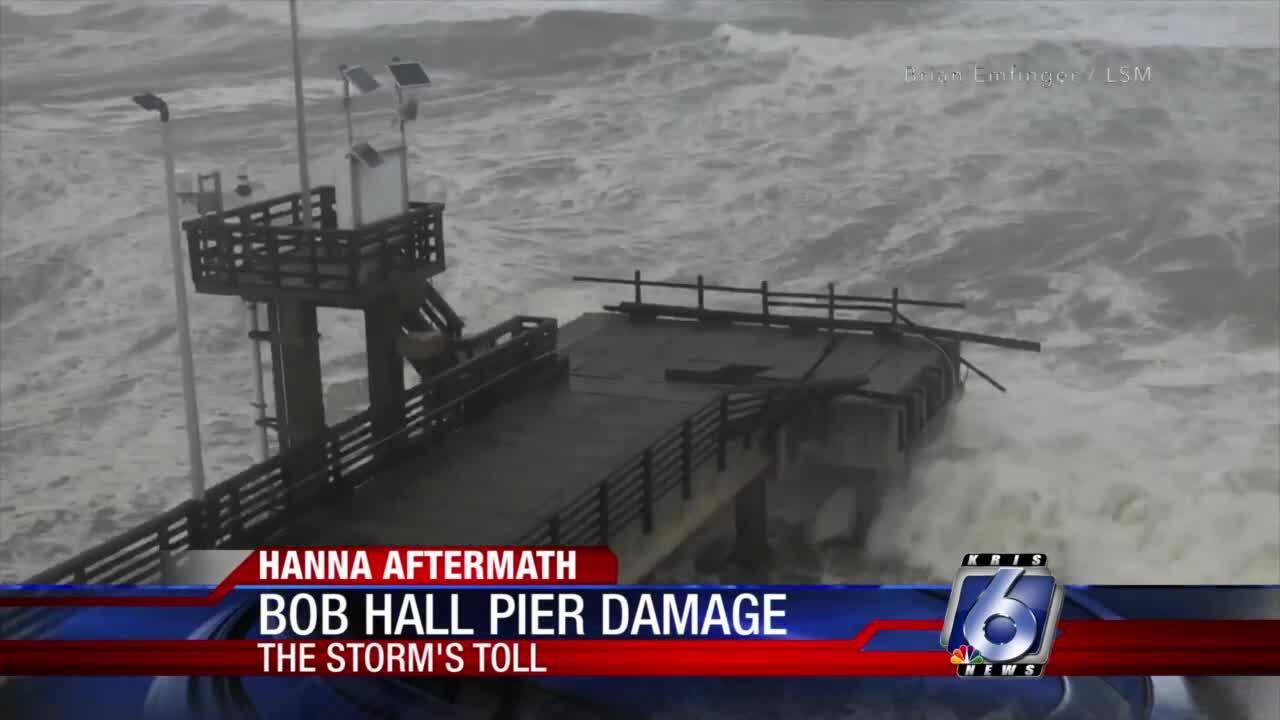 Bob Hall Pier damage