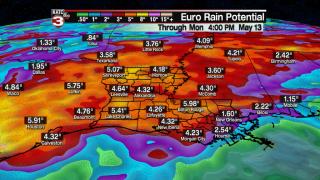 Increasing rain chances heavy rain threat later into week