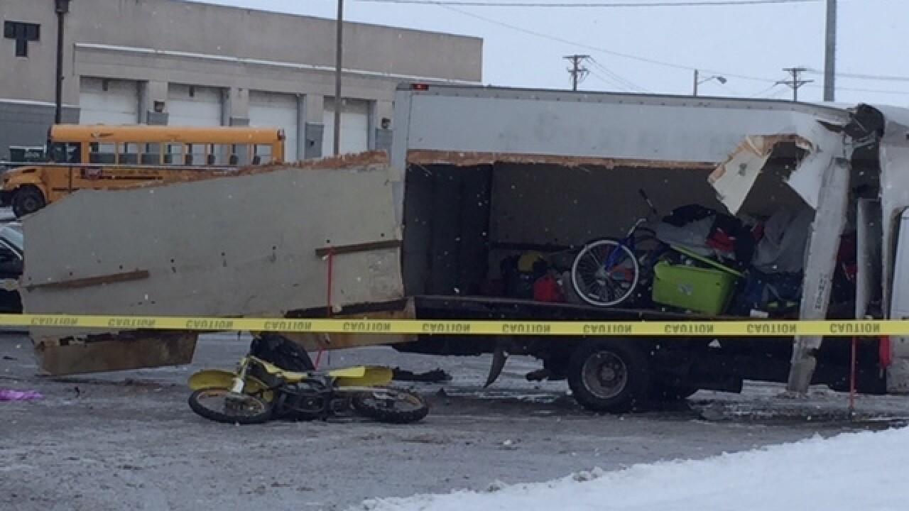Dirt bike, box truck involved in fatal crash