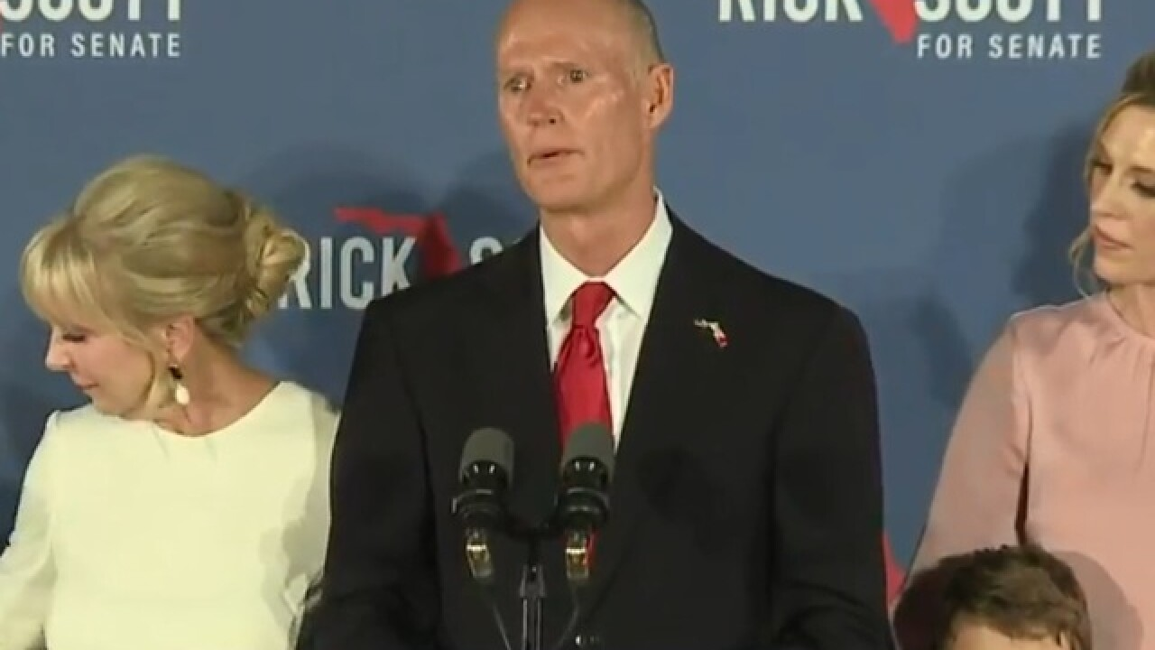 Rick Scott leads Florida Senate race over incumbent Bill Nelson
