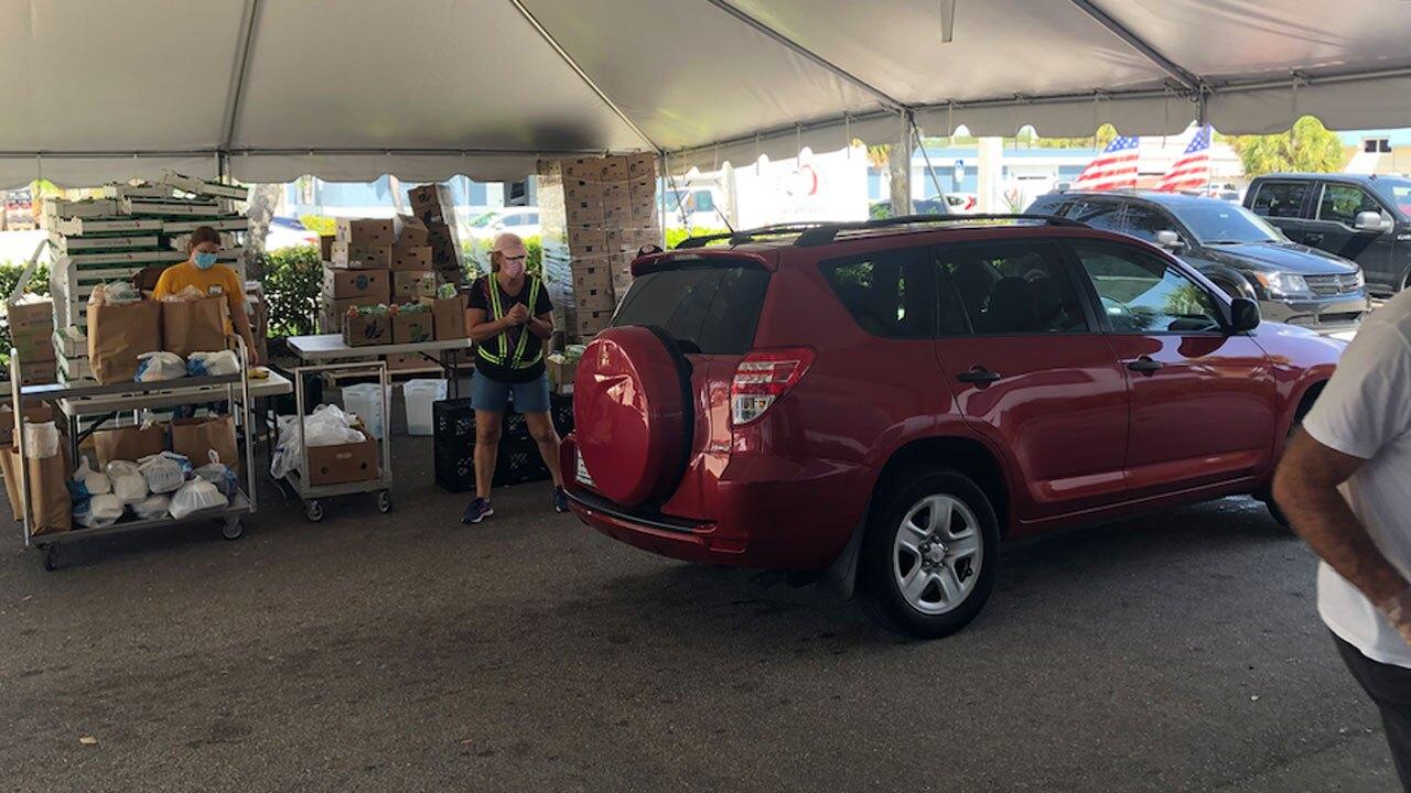 Boca Helping Hands food distribution on Sept. 7, 2021