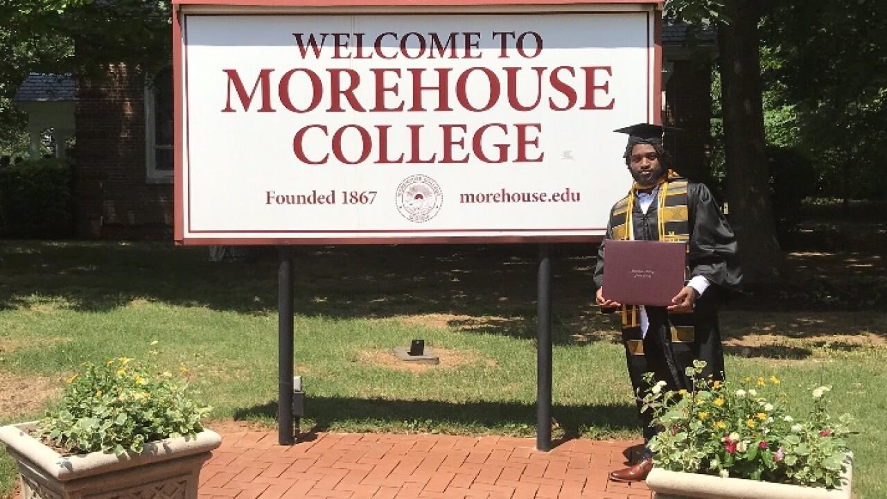 2019 Morehouse College graduate Demarcus Harris