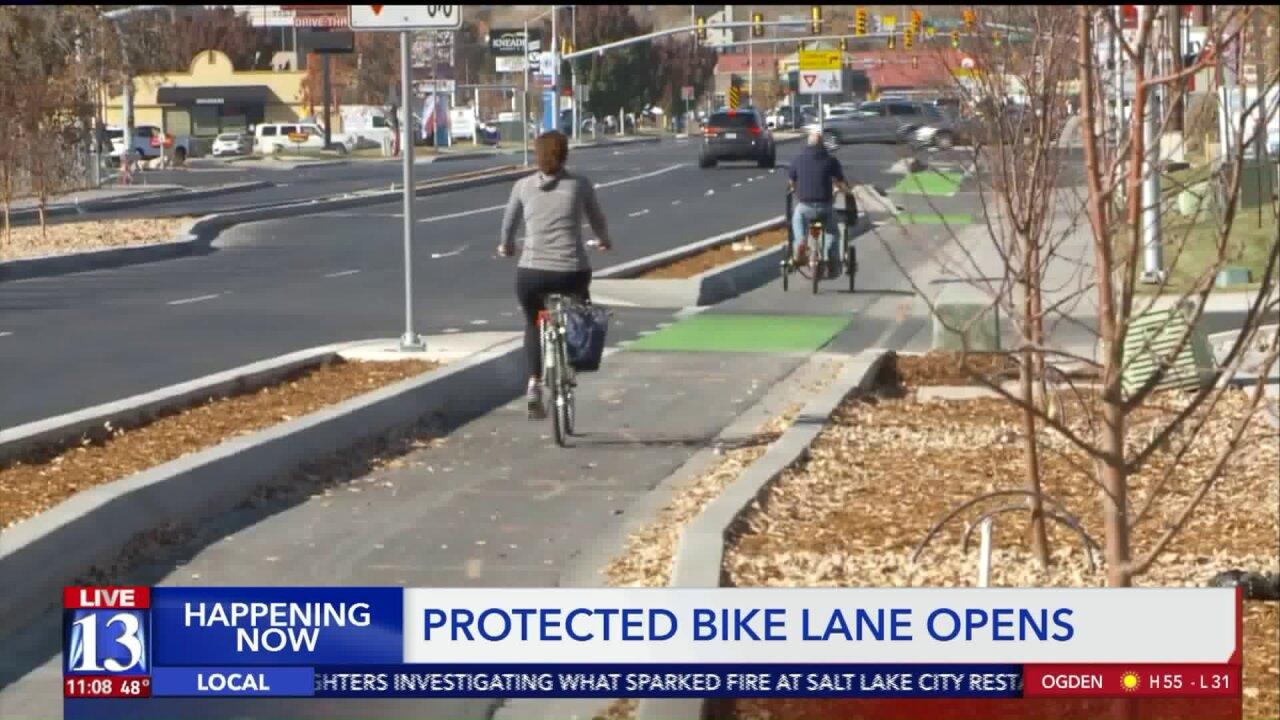 Provo unveils new protected bike lanes along Cougar Boulevard