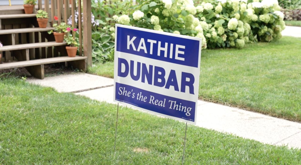 Kathie Dunbar's campaign sign