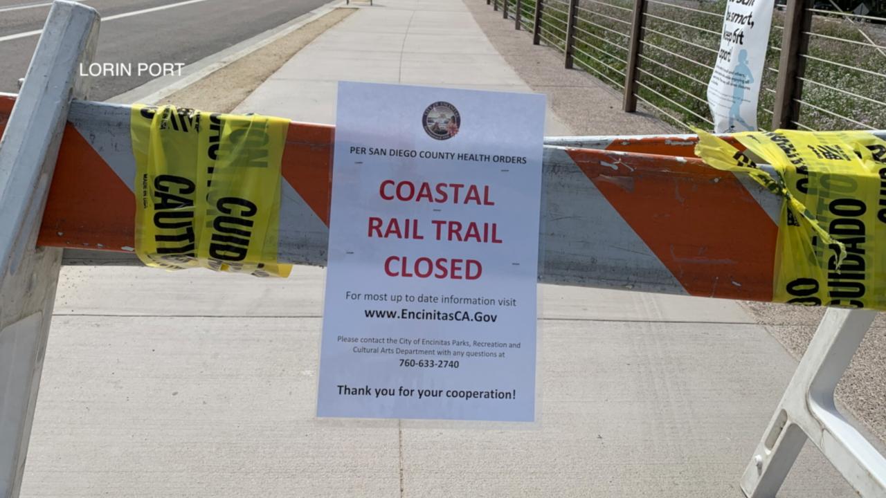 Coastal Rail Trail closed