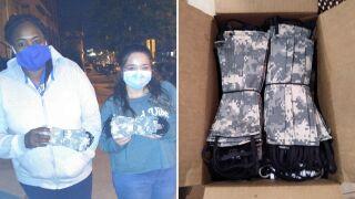 13-year-old NJ girl has masks made for Army medics at Newark hospital