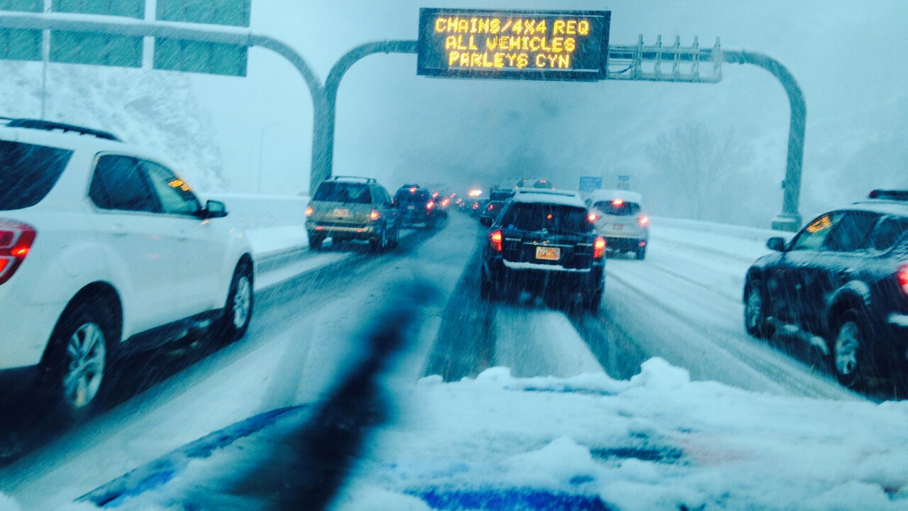 Dozens of slide-offs and crashes on the roads as major snowstorm moves in Saturday