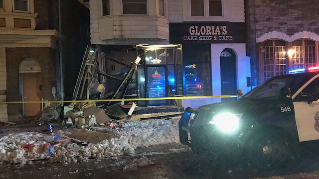 Car crashes into Gloria's Cake Shop & Cafe on 26th and National Avenue