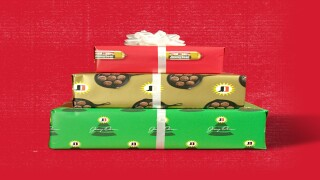 You can get free sausage-scented wrapping paper from Jimmy Dean