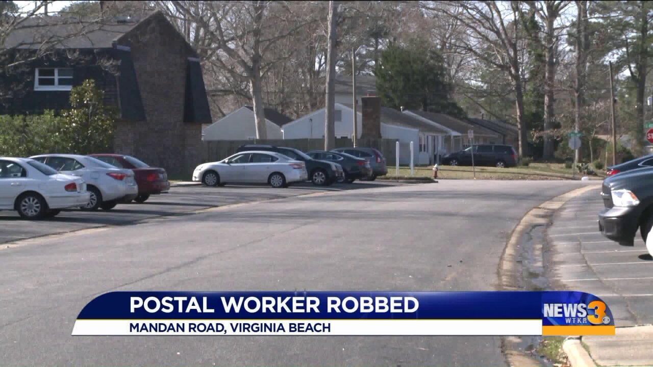 Mail carrier robbed in VirginiaBeach
